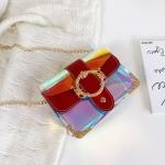 Laser Color Chain-strap Single Shoulder Bag Ladies Handbag Messenger Bag (Red)