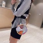 Laser Color Bat Shaped Round Bag Single Shoulder Bag Ladies Handbag Messenger Bag (Colour)