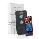 LDTR-WG0150 12V IR Control Receiver Board 1 Channel Relay 2 Key Remote Control (Red)