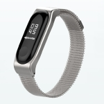 Mijobs Milan SE Metal Strap for Xiaomi Mi Band 3 Strap Stainless Steel Magnetic Bracelet Buckle Wristbands Replace Accessories, Host not Included (Silver)