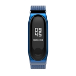 Mijobs Metal Strap for Xiaomi Mi Band 3 Screwless Buckle Style Stainless Steel Bracelet Wristbands Replace Accessories, Host not Included (Blue)