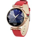 B80 1.04 inch IPS Color Screen Smart Bracelet IP67 Waterproof, Leather Watchband,Support Call Reminder /Heart Rate Monitoring /Blood Pressure Monitoring /Sedentary Reminder /Sleep Monitoring (Red)
