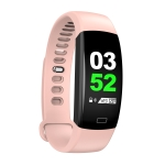 F64HR 0.96 inch TFT Color Screen Smart Bracelet IP68 Waterproof, Support Call Reminder/ Heart Rate Monitoring /Blood Pressure Monitoring/ Sleep Monitoring/Blood Oxygen Monitoring (Pink)