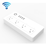 XS-A24 WiFi Smart Power Plug Socket Wireless Remote Control Timer Power Switch with USB Port, Compatible with Alexa and Google Home, Support iOS and Android, US Plug