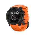 Silicone Replacement Wrist Strap for Garmin Instinct 22mm (Orange)