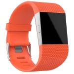 Rhombus Texture Adjustable Sport Wrist Strap for FITBIT Surge (Orange)