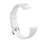 Children Silicone Twilled Wrist Strap for FITBIT ACE (White)