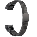 Stainless Steel Magnet Wrist Strap for FITBIT Alta,Size:Small,130-170mm (Black)