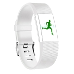 Square Pattern Adjustable Sport Wrist Strap for FITBIT Charge 2 (White)