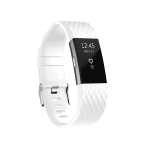 Diamond Pattern Adjustable Sport Wrist Strap for FITBIT Charge 2 (White)