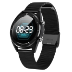 DT228 1.54inch IP68 Waterproof Steel Strap Smartwatch Bluetooth 4.2, Support Incoming Call Reminder / Blood Pressure Monitoring / Watch Payment (Black)