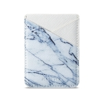 MUXMA  White Marble Leather Pocket Card Mini Mobile Phone Case 3M Plastic Credit Card Mobile Phone Back Stickers Card Package Card Sets (White)