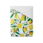 MUXMA  Lemon Leather Pocket Card Mini Mobile Phone Case 3M Plastic Credit Card Mobile Phone Back Stickers Card Sets (White)