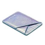 MUXMA Laser Leather Pocket Card Mini Mobile Phone Case 3M Plastic Credit Card Set