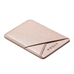 MUXMA Bright Snakeskin Pocket Card Mini Mobile Phone Case 3M Plastic Credit Card Set (Pink)