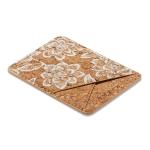 MUXMA White Flower Cork Pocket Card Mini Mobile Phone Case 3M Plastic Credit Card Set