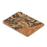 MUXMA Black Flower Cork Pocket Card Mini Mobile Phone Case 3M Plastic Credit Card Set
