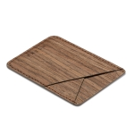 MUXMA Walnut Wood Pocket Card Mini Mobile Phone Case 3M Plastic Credit Card Set