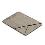 MUXMA Gray Wood Pocket Card Mini Mobile Phone Case 3M Plastic Credit Card Set