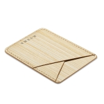 MUXMA Pine Grain Pocket Card Mini Mobile Phone Case 3M Plastic Credit Card Set