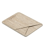 MUXMA Wood Grain Pocket Card Mini Mobile Phone Case 3M Plastic Credit Card Set