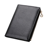Multifunctional Litchi Texture Women Large Capacity RFID Passport Hand Wallet with Card Slots(Black)