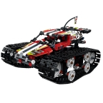 MoFun ZHIBO 13023 DIY Assembled Electric Crawler High Speed Car 2.4G Four-way Remote Control Car(Red)
