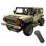 MoFun ZHIBO 13009 DIY Assembled Electric Hummer Army Car 2.4G Four-way Remote Control Car