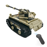 MoFun ZHIBO 13010 DIY Assembled Electric Patriotic Tank 2.4G Four-way Remote Control Car