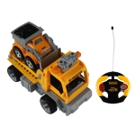MoFun ZHIBO 1804 Four-way Large Particles Remote Control Assembling Blocks DIY Assembled Electric 1:18 Trailer with Flashing Lights