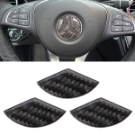 Car Carbon Fiber Steering Wheel Decorative Sticker for Mercedes-Benz GLA