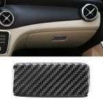 Car Carbon Fiber Central Control Storage Box Panel Decorative Sticker for Mercedes-Benz GLA
