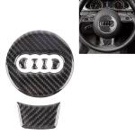Car Carbon Fiber Steering Wheel Decorative Sticker for Audi A4L / A5 / Q5