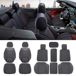 Universal Car Seat Cushion Leather Seat Cover, Five Seats