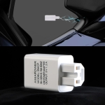 Electrical Motorcycle 36-120V 1.2A USB Mobile-phone Charger Adapter (White)