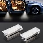2 PCS LED Car DC 12V 1.5W 6000K 100LM Door Lights 18LEDs SMD-3014 Lamps for BMW E81 (White Light)