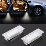 2 PCS LED Car DC 12V 1.5W 6000K 100LM Door Lights 18LEDs SMD-3014 Lamps for BMW F10 (White Light)