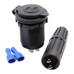 Power Plug Socket 12V/24V Car Refrigerator Special Socket for RV SUV Boats