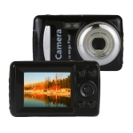 1280x720P HD 4X Digital Zoom 16.0 MP Digital Video Camera Recorder with 2.4 inch TFT Screen(Black)