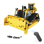 MoFun 13015 DIY Engineering Team Bulldozer Assembling Blocks, with 2.4G Remote Control