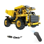 MoFun 13016 DIY Engineering Team Mining Truck Assembling Blocks, with 2.4G Remote Control
