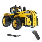MoFun 13017 DIY Engineering Team Tractor Assembling Blocks, with 2.4G Remote Control