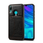 Dibase TPU + PC + PU Crazy Horse Texture Protective Case for Huawei P Smart 2019 & Honor 10 lite , with Holder & Card Slots(Black)
