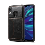 Dibase TPU + PC + PU Crazy Horse Texture Protective Case for Huawei Y7 2019 & Y7 Prime 2019 , with Holder & Card Slots (Black)