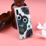 Pattern Oil Embossed TPU Case for Huawei P30 Lite (Owl Pattern)