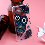Pattern Oil Embossed TPU Case for Huawei Honor View 20 (Owl Pattern)