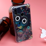 Pattern Oil Embossed TPU Case for Huawei Y7 2019 (Owl Pattern)