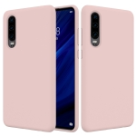 Solid Color Liquid Silicone Shockproof Full Coverage Case for Huawei P30 (Pink)