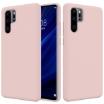 Solid Color Liquid Silicone Shockproof Full Coverage Case for Huawei P30 Pro (Pink)