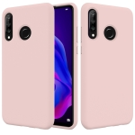 Solid Color Liquid Silicone Shockproof Full Coverage Case for Huawei P30 Lite (Pink)